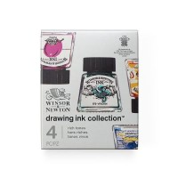 Winsor & Newton Drawing Ink Set of 4 Rich Tones